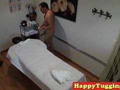 Asian masseuse sixty nine client on spycam