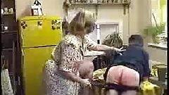 Wife spanks hubby with shoe in kitchen KOLI