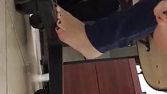 Clear plastic flats shoeplay at work