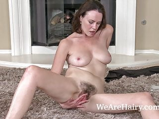 Hairy Woman Veronica Snow Relaxes After Working