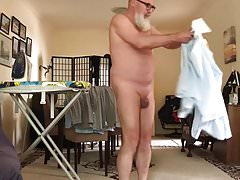 Day in the life of a naked man.