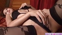 Risa Misaki uses sex toys to satisfy her pussy
