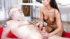 Fresh Pussy Rejuvenates Old Citizen's Old Cock