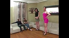 Angela and Erika fucked in a good FFMM