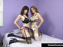 Charlee Chase Watches Stephanie Mars Get Rammed In Hot 3Way!