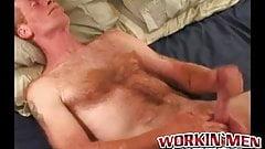 Rough mature amateur strips naked and masturbates vigorously