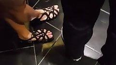 Cute Feet in Elevator