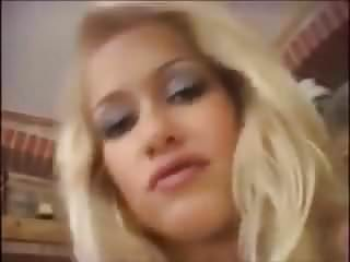 Young blonde Stacy gets tight holes pounded by strangers