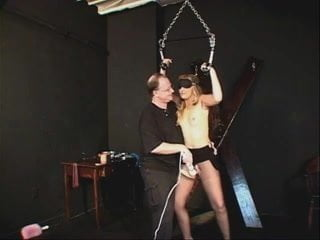Small tits whore bound and pleasured by her master