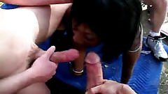 Gangbang with black girl 4