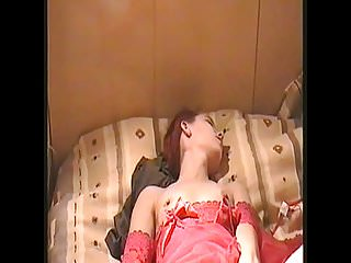 Beautiful hotwife with her lover in hotel