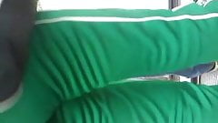 Ruivinha de uniforme colado