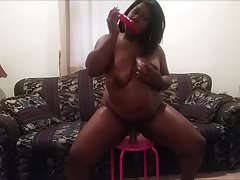 bbw ebony ride dildo