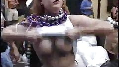 big breasted mardi gras flasher