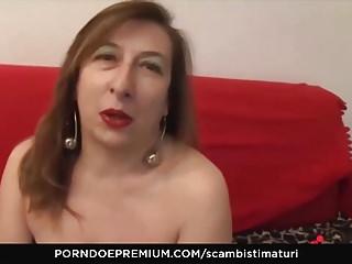 SCAMBISTI MATURI - Mature minx pussy banged hardcore