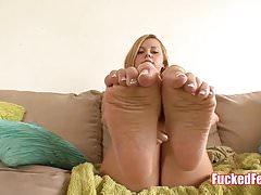 Brazilian Babe Jessie Rogers Get Feet Fucked!