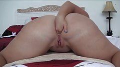 Naked fat girl spreading her holes what