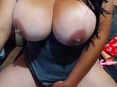 BUsty lactating bitch!