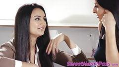 Boss MILF Silvia Saige seduced by new assistant Eliza Ibarra