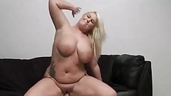 hot blonde fucked on sofa