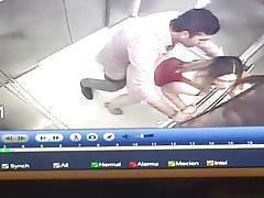 couple caught fucking in the elevator