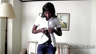 Epic african milf goes to a casting for some fucking