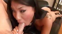 Hot Asian sucks cock