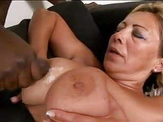 Tit fuck granny