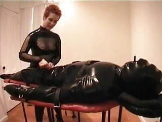 Inflatable bondage - Inflatable rubber catsuit bondage femdom mistress alice cbt