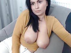 Busty Webcam Girl With Her Tits Out