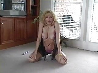 She plays with herself then sucks cock