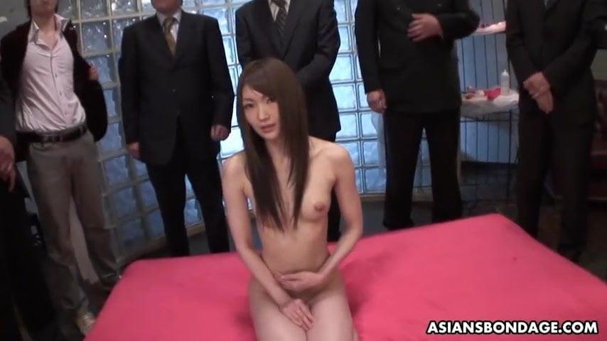 Skinny Rina Serizawa likes to get gang banged and creampied