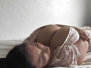 Leaning in bed with boobs-out # 2 - spy video