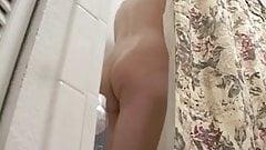 Hot Blonde Shaving in Shower-Spy Cam Clip