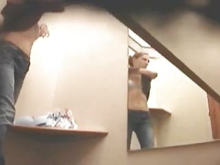 Changing room spycam voyeur busted almost caught