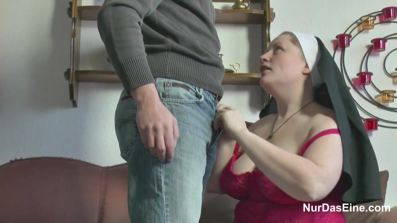 German Young Boy Seduce Granny Nun to Fuck Him: HD Porn 80