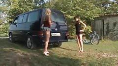 Girl Fucks Car Exhaust
