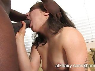 Big Black Cock Fucks This Hairy Pussy