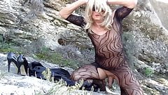 outdoor with a bodystocking