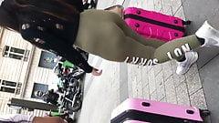 Candid women latina booty spandex