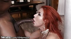 Throated Eager MILF Gags on BBC