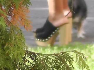 Well-shaped legs #7 (black-green dress)