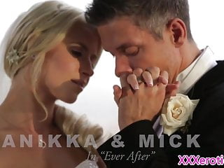 Beautiful bride pussyfucked before creampie