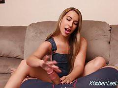 Teen Kimber Lee Jerks Off Her Step Dad For Revenge!