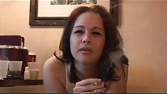 Smoking Fetish - NON NUDE babe smoking very sensual braless
