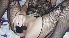 My wife end Black dildo