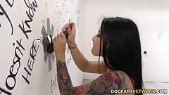 Katrina Jade sucks BBC - Gloryhole