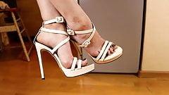 Beautiful legs, feet and high-heel sandals 7