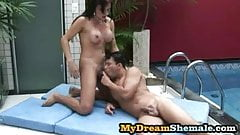 Tatiana Torres - Tantalizing Tranny Screwing Her Man