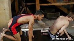 Gay jock pounding wrestlers ass